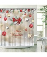 Stacy Fay Xmas Shower Curtain, Merry Christmas Shower Curtains Set with ... - $51.19