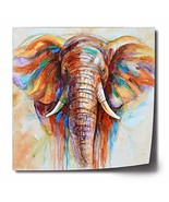 Crescent Art Original Design Modern Abstract Elephant Wall Art, Oil Pain... - $40.06