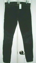 NWT CURRENT ELLIOT THE ANKLE SKINNY HARLEM COATED WOMEN'S JEANS BLACK SI... - $103.99