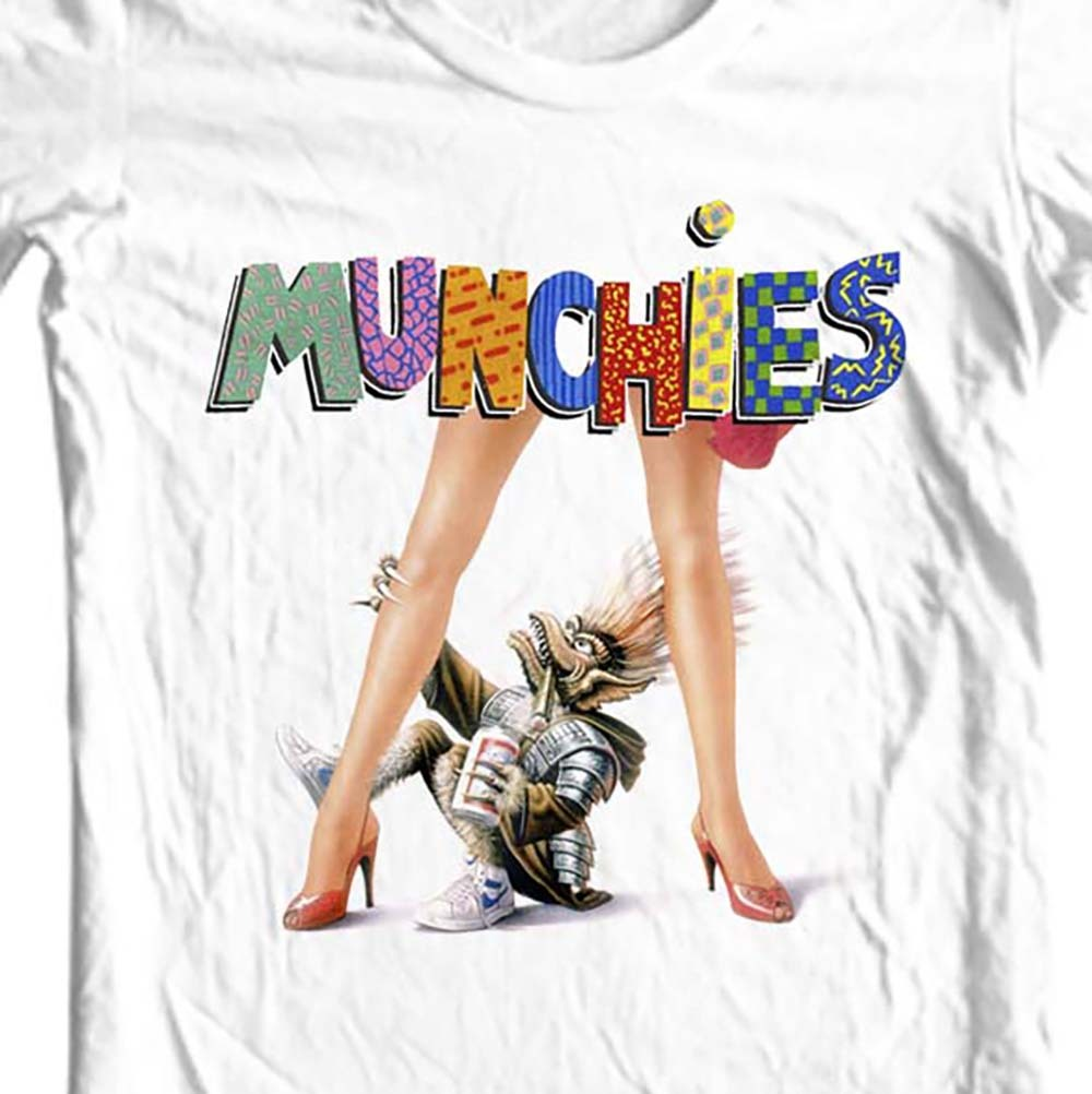 Munchies T-shirt retro 80's sci fi Critters Gremlins 100% cotton graphic tee