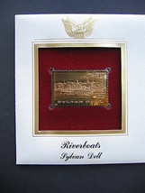 1996 Riverboats Sylvan Dell Boats 22kt Gold GOLDEN replica Cover STAMP - $7.91