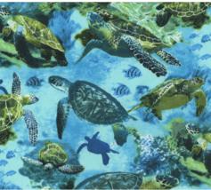 BTY Hi Fashion Wildlife SEA TURTLES Print 100% Cotton Quilt Crafting Fab... - $10.00