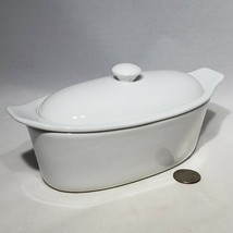 Cook Street 3 Piece Porcelain Butter Boat Solid White Butter Dish EUC - $28.95