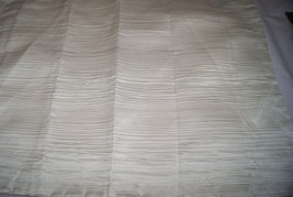 Hotel Collection VERVE Textured Standard Sham Ivory Off White - Nwop - $39.90