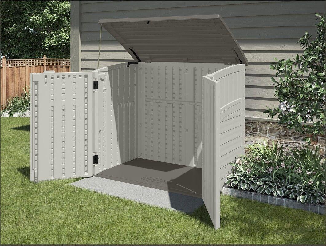 Outdoor Storage Shed Bike Utility Tool Cabinet Gardening Plastic Backyard Box