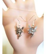 silver fairy charm earrings dangles ear hook handmade simple fantasy jew... - $2.99