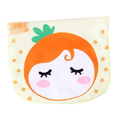 2 Lovely Orange Baby Cotton Gauze Towel Wipe Sweat Absorbent Cloth Mat Towel