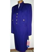 Vintage 1980s Sandra Owwing NR1 3 Piece Royal Purple Rayon Skirt Suit 12 - $129.99