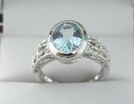 Blauer Topas und Diamant Ring IN - $279.29