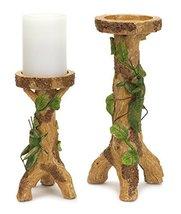"""Set of 2 Pillar Green Grasshopper Candle Holder Brown 11.5"""" - $51.94"""