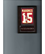 PATRICK MAHOMES PLAQUE KANSAS CITY CHIEFS KC FOOTBALL NFL JERSEY PHOTO P... - $3.95