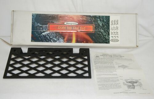 Hargrove GT18 Cast Iron Grate Top Coal Bed Create Glowing Ember Bed