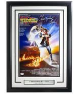 Christopher Lloyd Signed Framed Back To Future 11x17 Poster PSA/DNA - $247.49