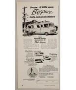 1970 Print Ad Mallard Motor Homes,Travel Trailers,Pickup Campers West Be... - $12.85
