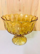 VINTAGE FOSTORIA  GLASS AMBER FOOTED FRUIT BOWL COMPOTE~7.5 X 9 - $12.99
