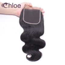 Chloe Brazilian Hair Body Wave 4x4 Remy Human Hair Lace Closure Free Par... - $106.60
