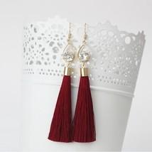 2018 Fashion Vintage Water Drop Rhinestone Lady's Long Tassel Earrings F... - $16.35