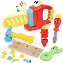 STEAM Life 14 Pcs Cartoon Kids Tool Set for Toddlers - Kids Tool Box - Kids Tool