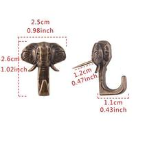 BAMI Elephant Push Pin Picture Hanger Piece-15 Antique Bronze image 4