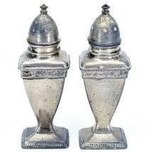 Vintage Silver Salt & Pepper Shaker Set Stamped 1030 image 2