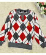 Grids Color Matching round collar Kids tops Brand New size 4T - $6.50