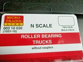 Micro-Trains Stock # 00310030 (1031-10) Roller Bearing Trucks w/o Couplers 10 PR image 2