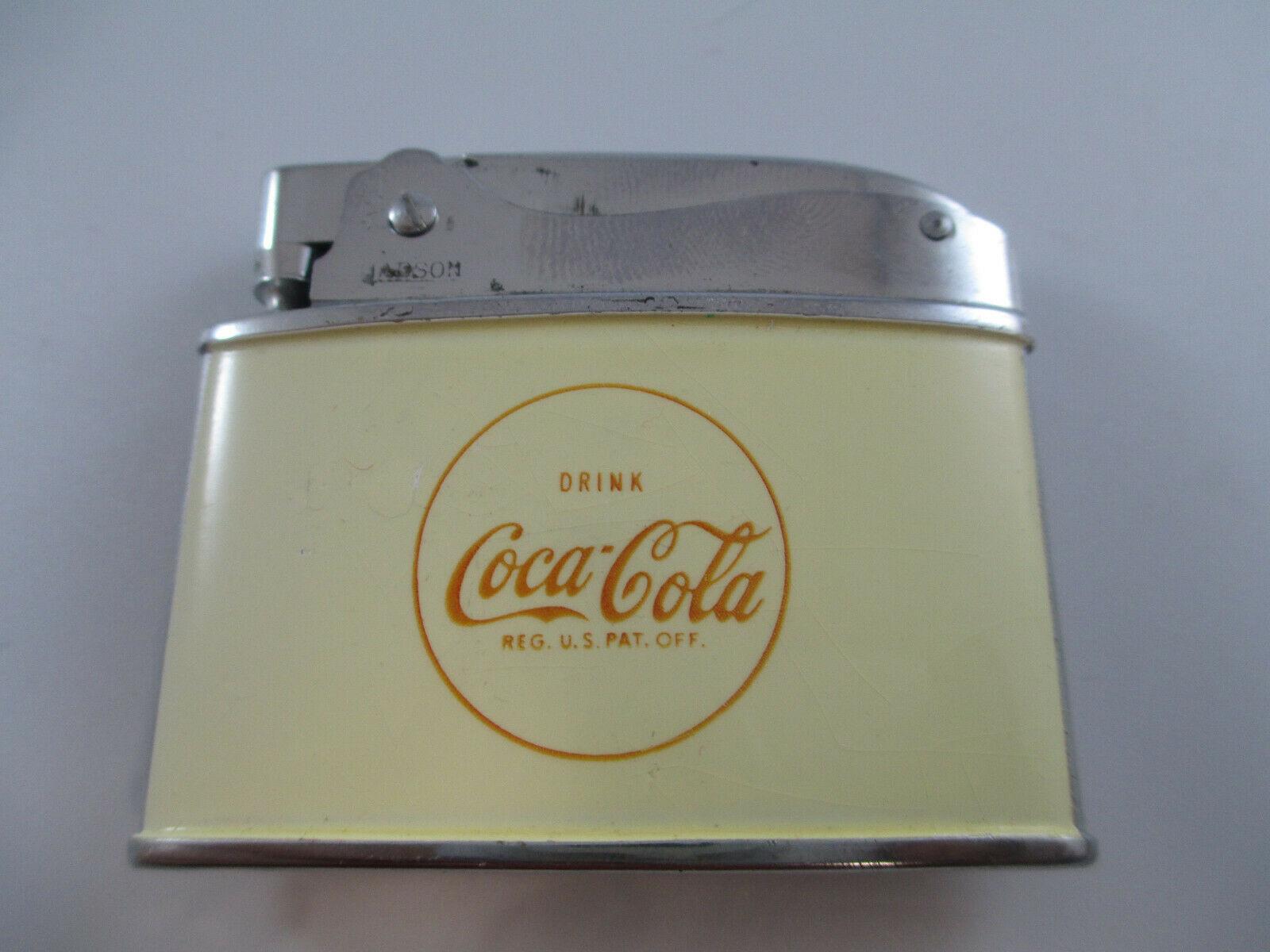 Coca-Cola Hadson Lighter Drink Coca-Cola Enamel Vintage 1960s - $69.30