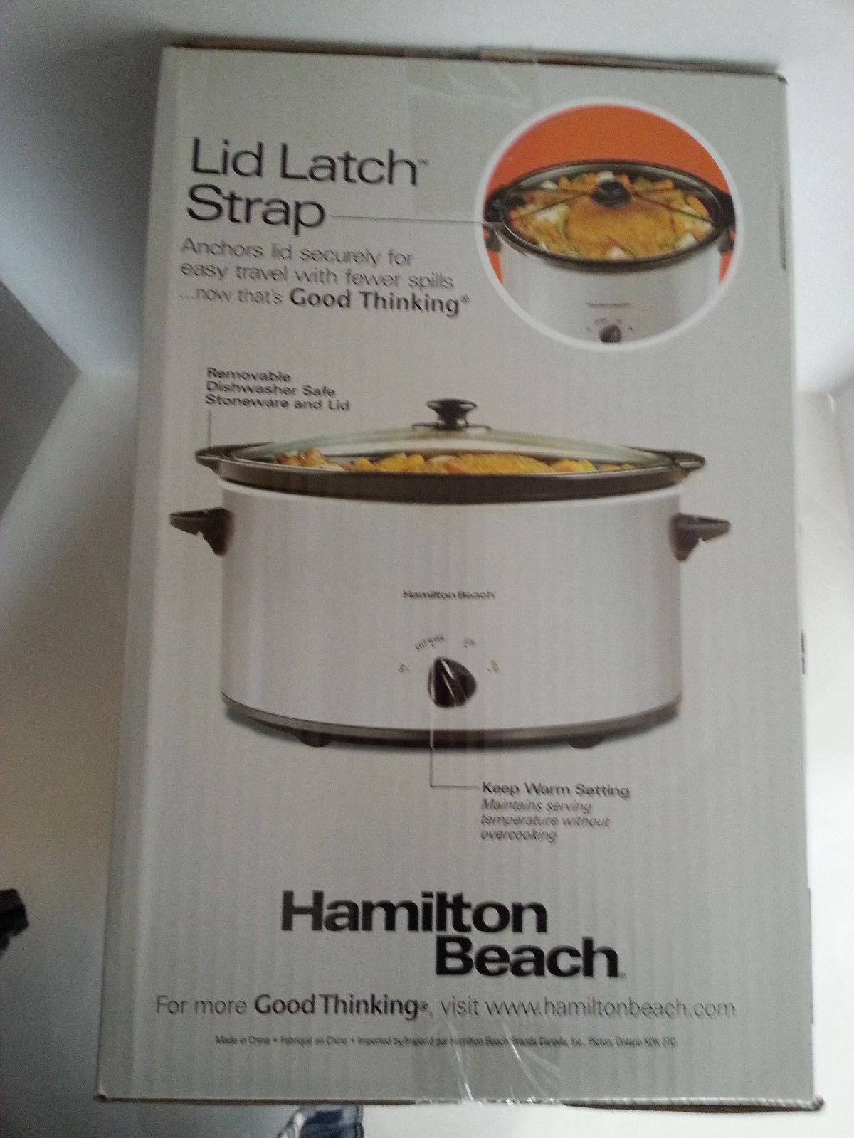Hamilton Beach 6-qt Silver Slow Cooker #33167 Church Crock Pot One Pot Meal