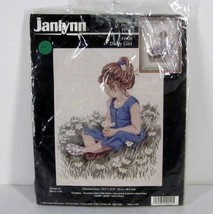 "Janlynn 29-20 ""Daisy Girl"" 12.5"" X 17.5"" Counted Cross Stitch 1996 Usa Picture - $17.99"
