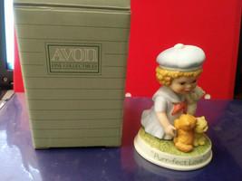 Avon Tender Memories 1991 Porcelain Figurine Girl & Kittens Purr-Fect Love  - $12.20