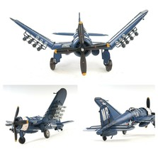 """1944 F4U Corsair METAL AIRPLANE MODEL 14"""" Military Fighter Aircraft Coll... - $94.95"""