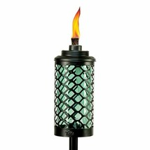 TIKI Brand Glass Honeycomb Torch, 65 Inches, Blue - $53.18