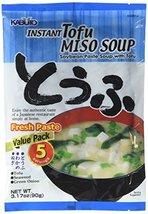 Kabuto Instant Miso Soup, Tofu, 3.17 Ounce - $8.86
