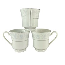 CCA International Fine China Queen Ann Footed Tea Cups Set of 3 Vintage - $24.73