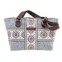 Kendall Dusty Blue Mini Shoulder Canvas Tote Bag Purse Lined Phone Pocke... - $38.95