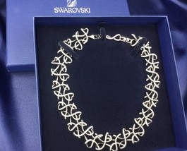 AUTHENTIC SWAN SIGNED SWAROVSKI LIGHTNESS COLLAR NECKLACE 1039096 NIB - $329.00