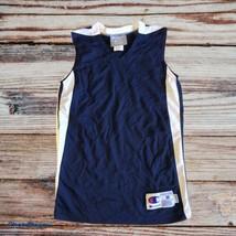 Champion Basketball Mesh Blue White Pinnie Jersey Size Medium Youth - $14.50