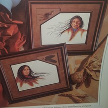 Many Winds Cross Stitch Leaflet Book Color Charts 1990 American Indians - $9.99