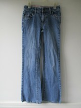 Levi's Women's Size 12 Slim Cotton Blend Solid Blue Adjusters Jeans Pants - $20.80