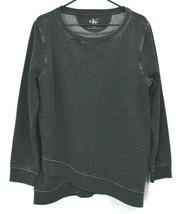 Calvin Klein Men's XL Long Sleeve Distressed Look Crew Neck Sweater - Gray - $19.99