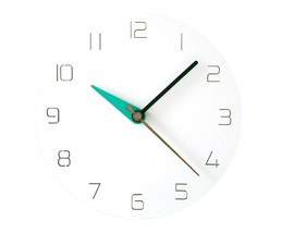 Moro Design 3 Color Hands Wall Clock non Ticking Silent Clock (Classic Mint) image 1