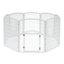 IRIS Indoor Outdoor Plastic Pet PLAY PEN, 8 Pan... - $73.58