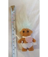 Troll Doll By Russ! Blue Hair Brown Eyes! Standing Baby pre-owned doll t... - $18.70