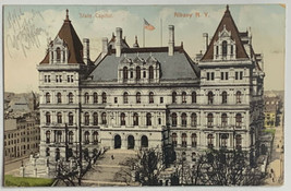 Old Undivided Postcard State Capitol Building Albany, NY Used 1906 PolyC... - $19.55