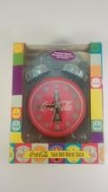 coca cola twin bell alarm clock in original box  - $24.00
