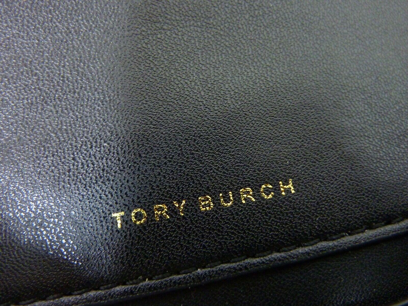 NWT Tory Burch Black Leather Miller Metal Cross-Body Bag/Mini Shoulder Bag $398 image 9