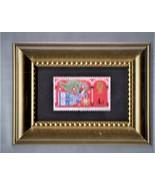 Framed Stamp Art - Used Stamp -  An English Christmas Angel - $8.99