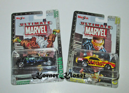 "Lot of 2 Maisto Ultimate Marvel Series 1 Cars - ""Rogue #7 & Cyclops #6"" ... - $16.40"