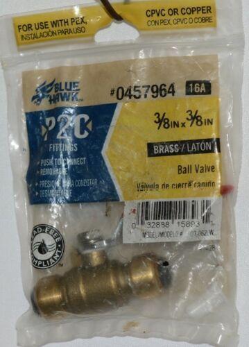 Blue Hawk 0457964 P2C Brass Fitting Ball Valve Removable