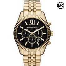 NEW GENUINE MICHAEL KORS MK8286 LEXINGTON BLACK DIAL GOLD MENS WATCH UK - $115.52